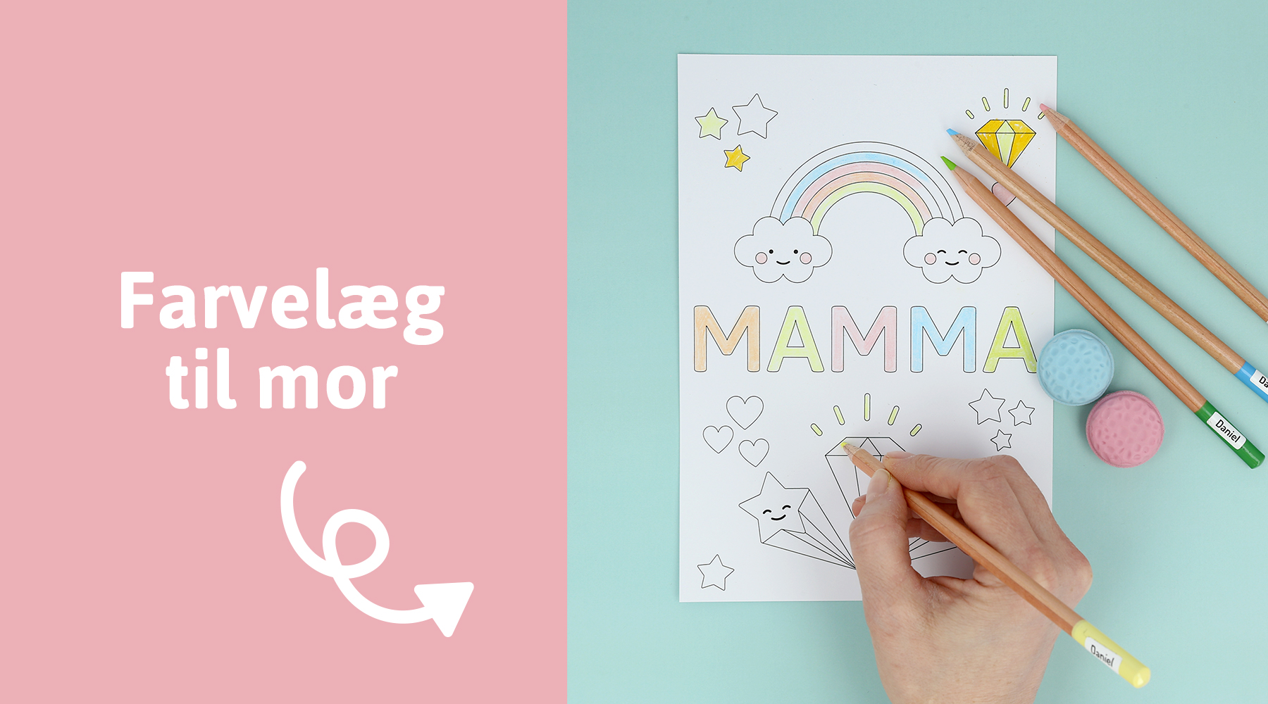 Gavetips til mors dag - farvelæg til mor