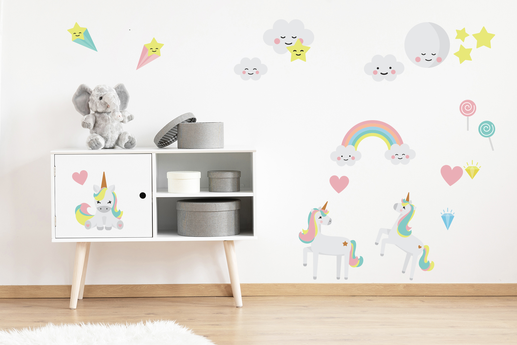 Skab en drømmeverden med wallstickers