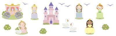 Wallstickers: Prinsesser