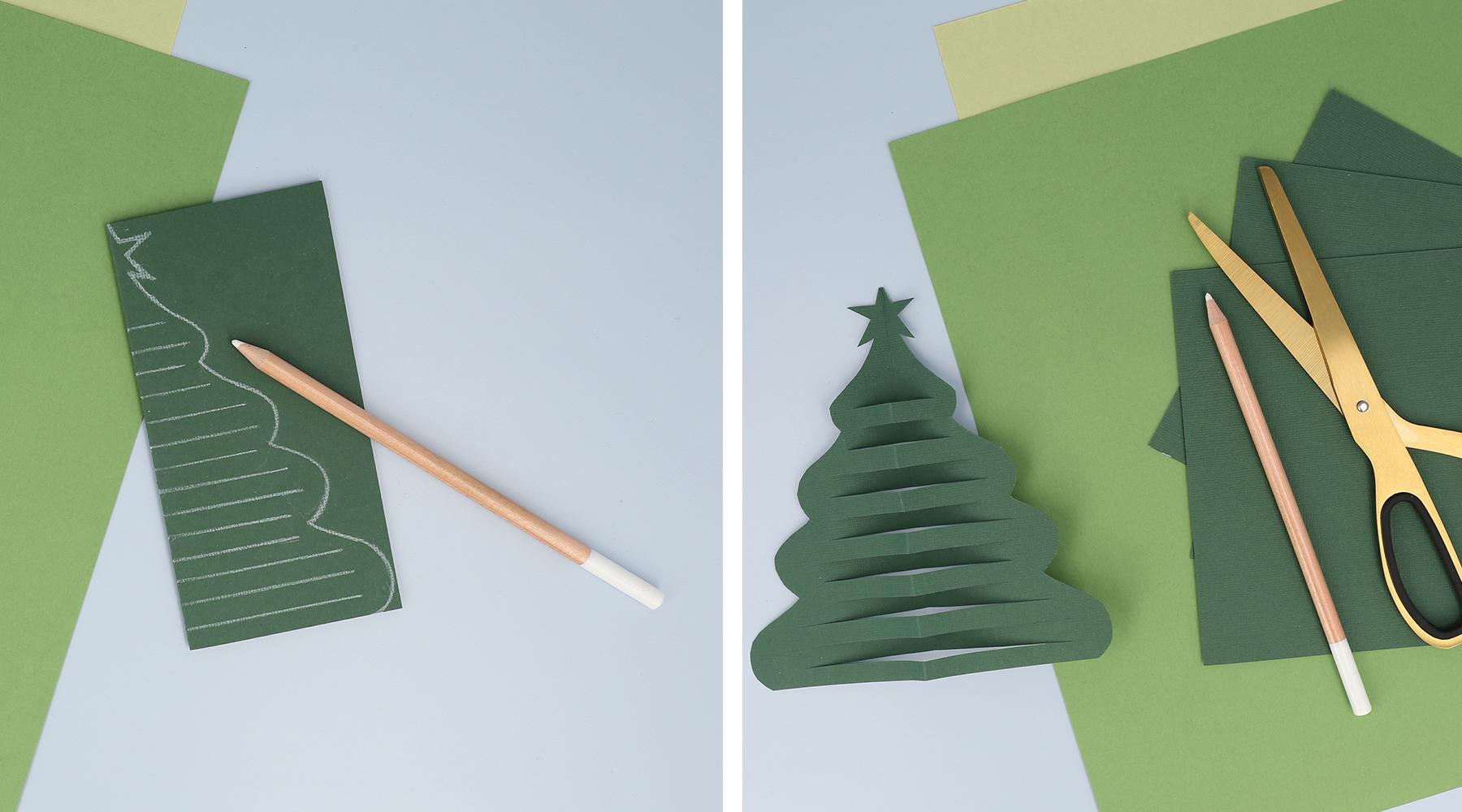 Juleværksted: Tegn og klip et fint juletræ