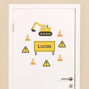 Dør-stickers: Gravemaskiner