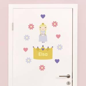 Dør-stickers: Prinsesser
