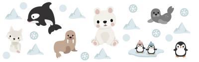 Wallstickers: Arktiske dyr