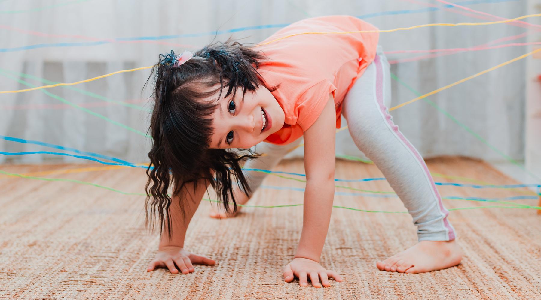 Forhindringsbane indendørs aktiviteter