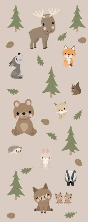 Wallstickers: Skovens dyr