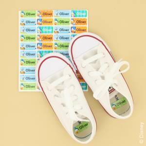 Mickey Mouse navnelapper til sko