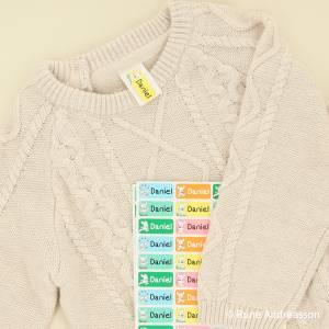 Mærk tøjet med Bamse navnelapper